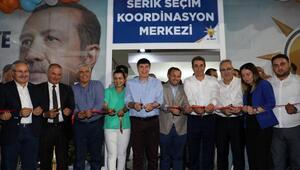 Ak Parti Serik Koordinasyon Merkezini Türel açtı