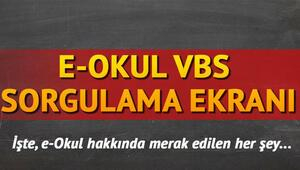 E Okul VBS giriş ekranı   MEB E Okul sorgulama işlemleri