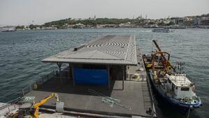 Yeni Karaköy İskelesinde çalışmalar sürüyor