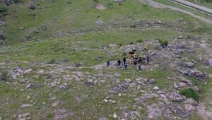 Kayıp büyükbaş hayvanlar, drone kullanılarak bulundu