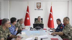 Genelkurmay Başkanı Akar, kuvvet komutanlarıyla Hatayda (2)