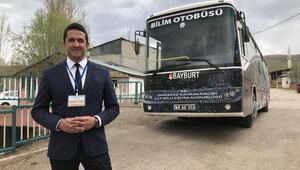 Öğretmen, Bilim Merkezine dönüştürdüğü otobüsle köy köy geziyor
