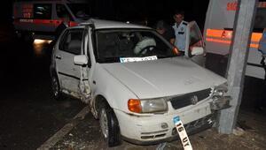 İki otomobil kavşakta çarpıştı: 2si çocuk, 6 yaralı