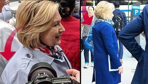Hillary'nin omzundaki gizemli çıkıntı