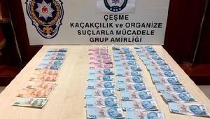 Çeşmede sahte paraya 2 gözaltı