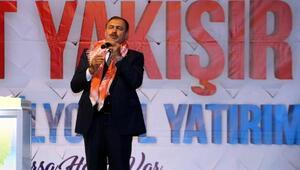 Bakan Eroğlu, İzmirde sahur vakti temel attı, açılış yaptı