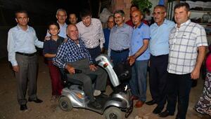 Büyükşehirden engelli vatandaşa araç