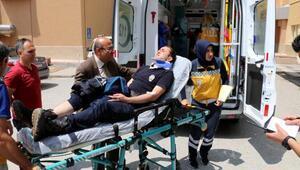 Polisleri taşıyan midibüs devrildi: 10 yaralı