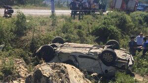 Gördesteki kazada 1 kişi öldü, 2 kişi yaralandı