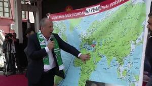 Muharrem İnce Karsta... Dünya haritası önünde eleştirdi