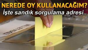 Nerede oy kullanacağım | 2018 YSK seçmen sorgulama ekranı