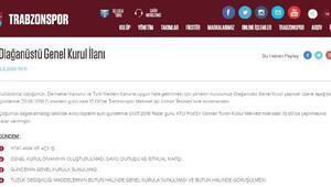 Trabzonspor tüzük değişikliğine gidiyor