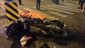 Kavşakta otomobille çarpışan motosiklet sürücüsü öldü