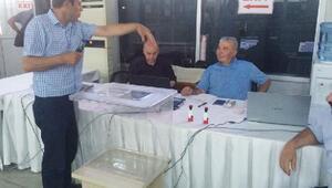 Sarp Sınır Kapısında ilk günde 14 kişi oy kullandı