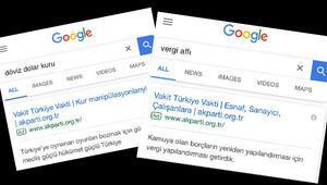 AK Partide dikkat çeken reklamlar