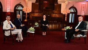 Cumhurbaşkanı Erdoğandan CNN Türk-Kanal D ortak yayınında önemli açıklamalar