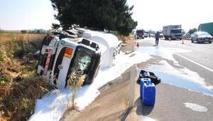 Tekirdağda yolcu otobüsü tankere çarptı: 10 yaralı