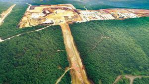 400 dönüm meşe ormanı yok oldu Havalimanı inşaatı değil TürkAkım