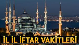İstanbulda iftar bu akşam saat kaçta İl il iftar ve sahur vakitleri