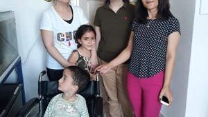 Harçlıklarla alınan tekerlekli sandalye Ali Onura