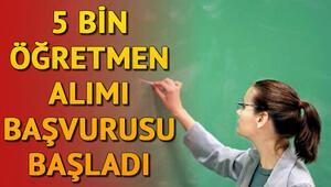 5 bin sözleşmeli öğretmen alımı başvuruları başladı   Başvuru şartları neler