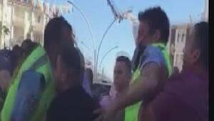 Polis ile baba oğulun kavgası kamerada