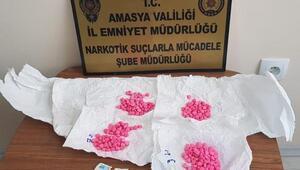 Amasyada uyuşturucuya 5 gözaltı