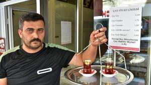 Çay fiyatını müşterinin nezaketi belirliyor