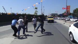 İstanbulda faytoncular hayvanseverlere saldırdı