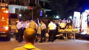 Caddebostanda otomobil taklalar attı: 1 ağır yaralı