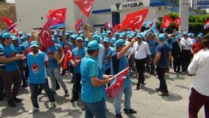 Ereğlide metal işçileri grevde
