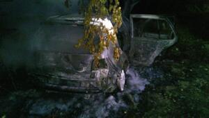 Otomobil, kayısı bahçesine devrilip yandı: 5 yaralı