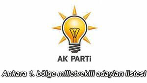 Ak Parti Ankara birinci bölge milletvekili adayları kimler