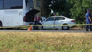 Termede kaza: 1 ölü, 1 yaralı