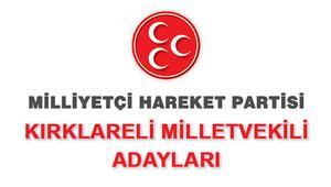 Kırklareli MHP Milletvekili Adayları kimler 2018 MHP Kırklareli Adayları