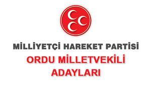 MHP Ordu Milletvekili Adayları kimler 2018 MHP Ordu Adayları