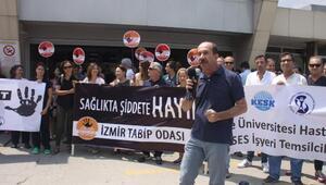 Sağlıkçılar şiddete hayır dedi