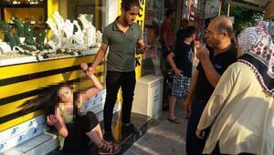 Sahte altın satmaya çalışırken yakalanan kadın polis diye bağırdı