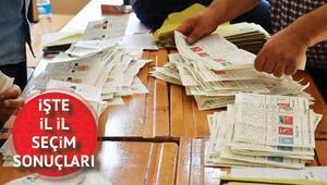 Türkiye geneli 2018 seçim sonuçlarında son durum... İl il cumhurbaşkanı ve milletvekili seçim sonucu