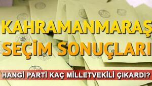 Kahramanmaraş seçim sonuçları 24 Haziran.. Kahramanmaraş milletvekili listesi