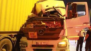 Tanker TIRa çarptı: 1 yaralı