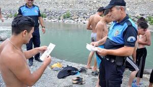 Osmaniyede polis boğulmalara karşı uyardı