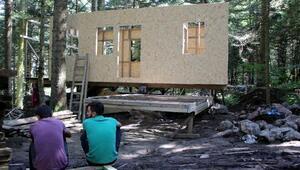 Gölcükte bungalovların yapımına başlandı
