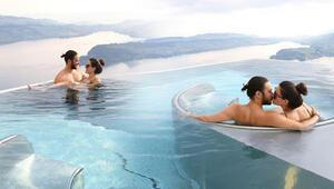 Sıcak havuzda romantizm