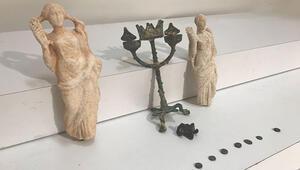 İstanbulda operasyon... Helenistik dönem eserleri ele geçirildi