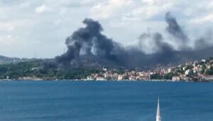 Beykozda fabrika yangını