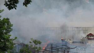 Fotoğraflar // Beykozda fabrika yangını