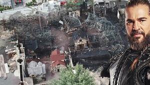 Diriliş Ertuğrul setinin dekorları tamamen yandı
