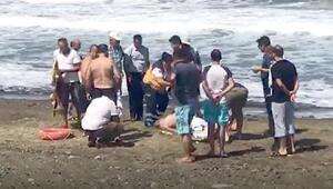 Kooperatif başkanı, denizde boğulma tehlikesi geçirdi