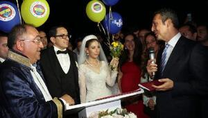 Fenerbahçe Başkanı Koç vefasını gösterdi, nikah şahidi oldu